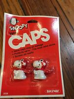 NOS Snoopy Old School Muscle Bike Bicycle Valve Caps-BMX,MTB,Road-Peanuts