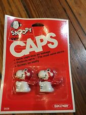 New Old Stock Snoopy Old School Bicycle Valve Caps-BMX,MTB,Kids Bike,Road Bike