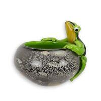 9973893-ds Glas Figur Murano Stil Schüssel Schale mit Frosch 17x16x14cm