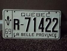 1969 QUEBEC La Belle Province CANADA License Plate R 71422