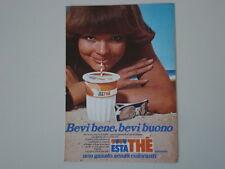 advertising Pubblicità 1977 FERRERO ESTATHE' ESTA THE'