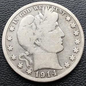 1914 S Barber Half Dollar 50c Mid Grade  #29347