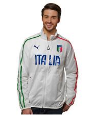 Puma Italy Italia Walk Out Soccer Football Training Jacket White Green Blue Larg