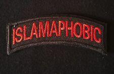 ISLAMAPHOBIC ARMY TAB ROCKER USA INFIDEL MORALE BLACK OPS RED HOOK BADGE PATCH