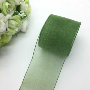 5 Yard Organza Ribbon Bow Hair Wedding Polyester Decoration Lace Craft Accessory
