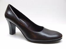 Studio Works Brown Leather Block Heel Dress Pumps 7.5M 7.5 NEW