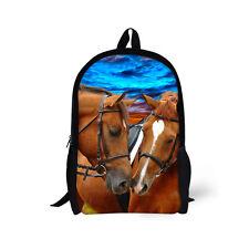 a54dc3ffdf54 Brown Horse Women Backpack School Bag Rucksack Satchel Teenagers Girls  Handbag