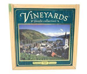 Vineyards Collection Rhein, Germany 750-Piece  Premium Puzzle in Wooden Box New