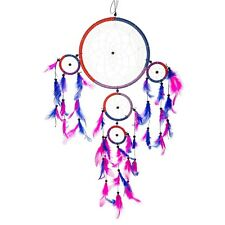 """24"""" Traditional Blue & Magenta Dream Catcher with Feathers Wall or Car Hangin..."""