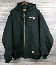 9b7f3339c Carhartt Mens Black Hooded Jacket Berne 3XL 3XLR HJ51BK New