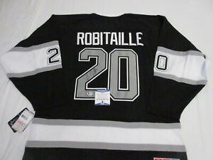 LUC ROBITAILLE SIGNED LOS ANGELES KINGS CCM JERSEY BECKETT BAS COA G79523