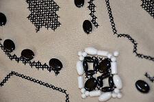 HALLHUBER DONNA Blazer Jacke Gr. 36 / UK 8 neu Beige & Schwarz mit Stickerei