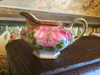 Antique Nippon Hand Painted Creamer Roses Gold Decorative Pot