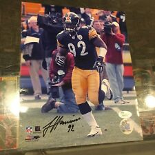 JAMES HARRISON PITTSBURGH STEELERS SIGNED 8X10 STEELERS  JSA AUTHENTICATED