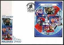 MALDIVES 2018 ICE HOCKEY SHEET FIRST DAY COVER