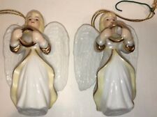 Crystal Cathedral Angel Ornament set of 2 Beautiful!