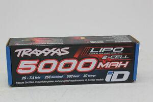 Traxxas TRX 2842 x Akku 5000 MAH 7,4V 2-Zellen 25C Lipo Id-Stecker Neuf + Ovp