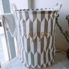 Laundry Basket Bin Waterproof Large Clothes Hamper Storage Basket 30 x 45cm