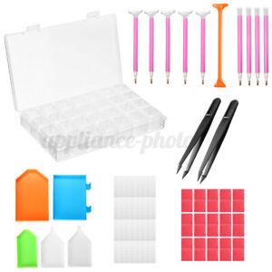 UK 66PCS Diamond Painting Tools Kit 5D Embroidery Painting Accessories Se .