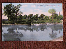 Fargo ND/Island Park-Boats/Landscape Mirror Image in Water/Printed Color Photo