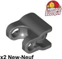 Lego 2x Bionicle Hero Factory Connector Arm Army Padded Dark Grey 98613c01 New