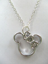 CRYSTAL MINNIE MOUSE PENDANT NECKLACE