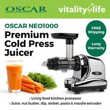 Oscar Neo 1000 Slow Cold Press Juicer Best Celery Fruit Vegetable - Chrome