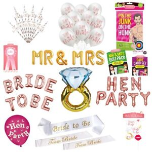 Hen Party Night Accessories Girls Out Do Novelty Decorations Funny Game Bundles