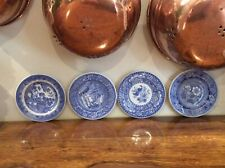 4 X SPODE BLUE ROOM COLLECTION MINATURE PLATES AS NEW CONDITION