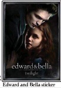 TWILIGHT =Edward Cullen & Bella Swan STICKER= 7.5cm NEW