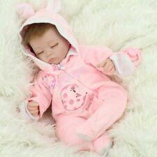 Reborn Baby Dolls Vinyl Silicone Sleeping Girl Newborn Realistic Doll Gift Toys