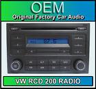 VW RCD 200 Reproductor de CD TRANSPORTER radio de coche Unidad Principal