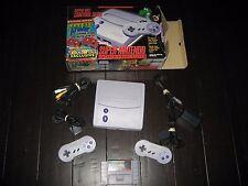 SNES Super Nintendo Control Deck Console - Tetris Attack - Complete in Box