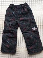 Boys Girls Size 5 Black Obermeyer Winter Snow Ski Pants  Adjustable I Grow