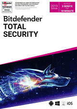 Bitdefender Total Security Multi Device 2019 - Inkl. VPN - 18 Monate / 3 Geräte