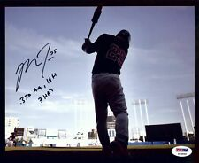 Mike Trout Signed Autographed 8X10 w/Stats Angels Rookie Graph PSA R76868