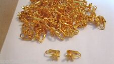 100 LOT Vintage Clip Earrings Goldtone Star W/ Add Your Own Stone Wholesale LOT