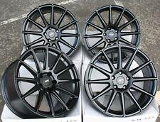 "18"" Alloy Wheels 5x114.3 Concave Staggered Multi Spoke Matt Black Ayr 02 Mb"