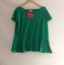PLUS SIZE PEPLUM TOP Summer Tee Shirt Blouse Stretchy Comfy Size 24