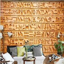 beibehang Custom Nonwovens Wallpapers HD Egyptian Relief Mural Birds and TV Back
