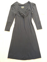 NEW Black V neck dress w 3/4 sleeves by Vivienne Westwood Anglomania Size XS = 6
