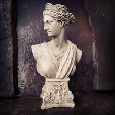 Classical Athena Bust Garden Statue Made from Reconstituted Stone.