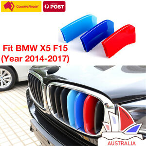 Fits BMW X5 F15 2014-2015 Kidney Grill Grille M Tech 3 Colour Cover Stripe Clips