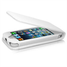 WHITE FLIP CREDIT CARD SOFT PU LEATHER CASE COVER APPLE IPHONE 5 5S