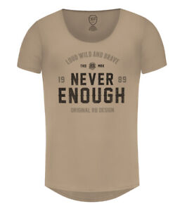 Mens T-shirt RB Design Street Fashion Mens Beige Gray Green Muscle Fit Tees
