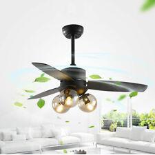 """42"""" Wood Pendant Ceiling Fan Chandelier 3 Light Remote 3 Wood Blades Fandelier"""