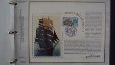 Document Philatélique - Musée de l'atlantique Port-Louis - 4 décembre 1976