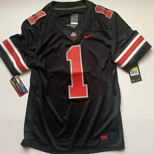 Nike Ohio State Buckeyes #1 (Stitched) Blackout Limited Jersey (Fields) Size S