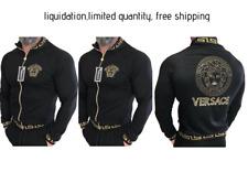 BNWT Men Medusa Logo Track Jacket Long Sleeve Black Color Designer Jacket 2XL
