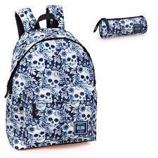 Skull Backpack Rucksack School Bag Floral Travel Work Holiday Bag Boys Girls